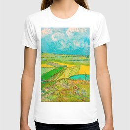 Wheat Fields after the Rain (The Plain of Auvers), July 1890 Oil Painting by Vincent van Gogh T-shirt