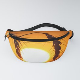 Wheat Sunset Silhouettes Fanny Pack