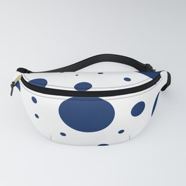 Navy and White Bubbles Fanny Pack