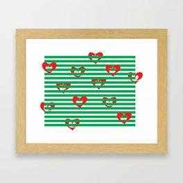 Heartz n' Stripes Framed Art Print