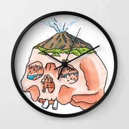 Mountain Fresh Hair: Hot Hed Wall Clock