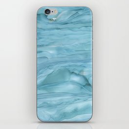 Ice Blue Marble iPhone Skin