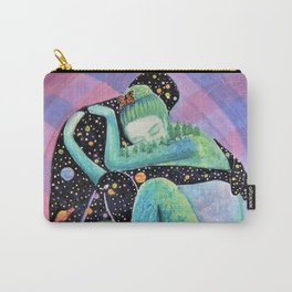Space Earth Love Painting Nature Soul Mates Couple Wedding Art Tapestry (Infinite Love) Carry-All Pouch