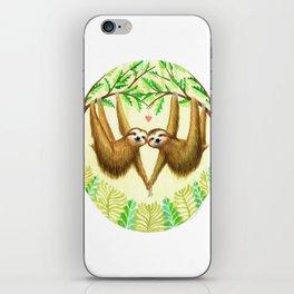 Sloths in Love iPhone Skin