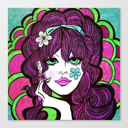 Psychedelic Flower Child Canvas Print