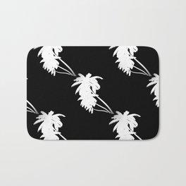 Palm Tree Pattern Black and White Bath Mat