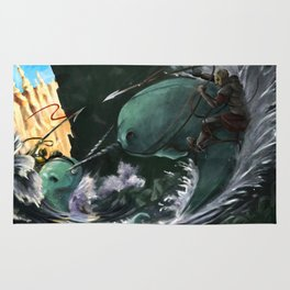 A Narwhal Joust for the Ages Rug