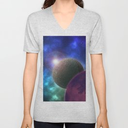 Space Expedition Unisex V-Neck