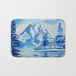 Winter Mt. Rainier Bath Mat
