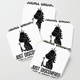 Unicorn science reality Kawaii Gift Coaster