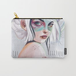 silver hair girl waiting Carry-All Pouch