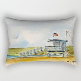 Santa Monica Beach - Lifeguard Tower #8 Rectangular Pillow