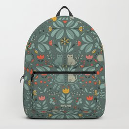 Swedish Folk Cats Backpack