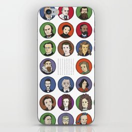 Portraits of Important Scientists iPhone Skin