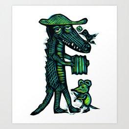 Cajun Gator Art Print