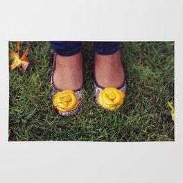 Yellow Flower Shoe! Rug