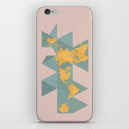 Dymaxion Map iPhone Skin