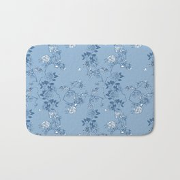 Chinoiserie in China Blue Bath Mat