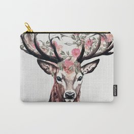 Deer and Flowers Carry-All Pouch