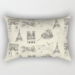 France vintage Rectangular Pillow