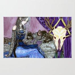 The goddess of death Rug