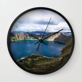 Quilotoa, Ecuador Wall Clock
