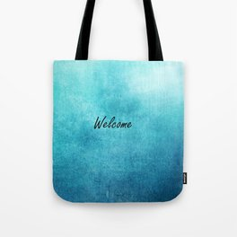 Turquoise Texture Welcome |  Texture Turquoise Tote Bag