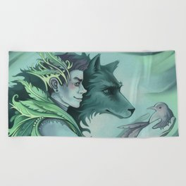 The Forest Prince Beach Towel