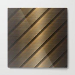 Copper Brass Metal Pipe Metal Print
