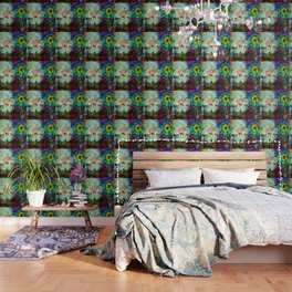 Abstractly drawn, surreal colored  ... Wallpaper