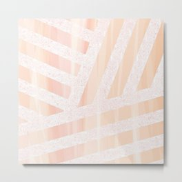 Peach linens Metal Print