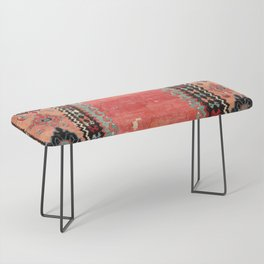 Sivas  Antique Cappadocian Turkish Niche Kilim Print Bench