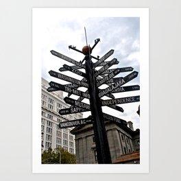 Where to? Art Print