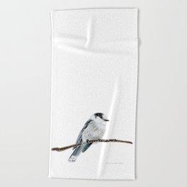 Gray Jay by Teresa Thompson Beach Towel