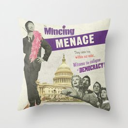 The Mincing Menace Throw Pillow