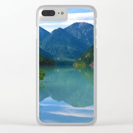 Morning Reflections on Kinney Lake in Mount Robson Provincial Park, British Columbia Clear iPhone Case