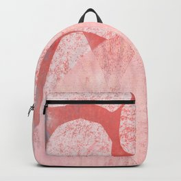 Catalogue - Graphic Abstract Geometric Print in Pink Backpack