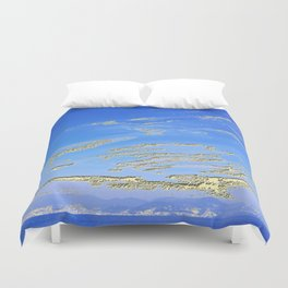 Mediterranean sky with mountains Duvet Cover