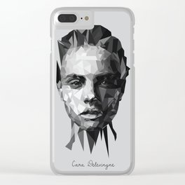 Cara Delevingne Clear iPhone Case