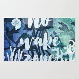 No Wake Zone Rug