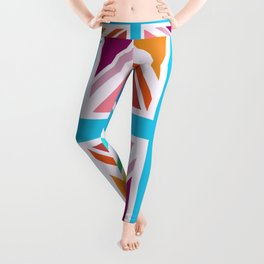 Union Jack/Flag Design Multicoloured Leggings