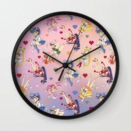 Chibi Super Inner Pattern Wall Clock