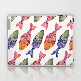 Indonesian Fish Duo – Navy & Coral Palette Laptop & iPad Skin