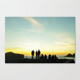 Lands' End Silhouette Canvas Print