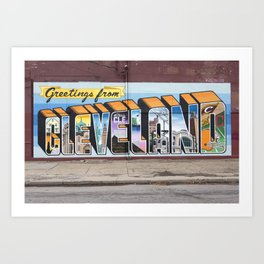 Greetings From Cleveland Art Print
