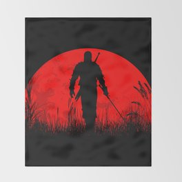 Geralt of Rivia - The Witcher Throw Blanket