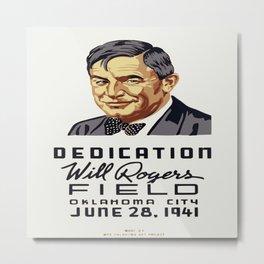 Vintage poster - Will Rogers Field Metal Print