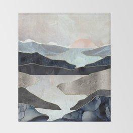 Blue Mountain Lake Throw Blanket