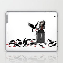 The girl and the soul 04 - Black Morning Laptop & iPad Skin