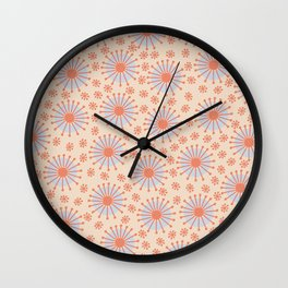 Carousel Retro Blue Wall Clock